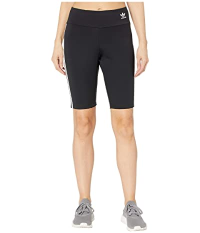 adidas Originals adiColor Biker Shorts (Black/White) Women