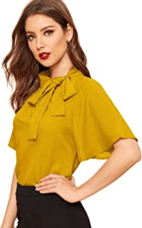Best women's blouse with tie Reviews