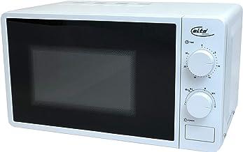 Elta Microondas 20L MW de 700.1(230V, 700W, 6niveles de potencia, abtaufun ktion, regulador de tiempo, acústica finalización), color blanco lacado Blanco