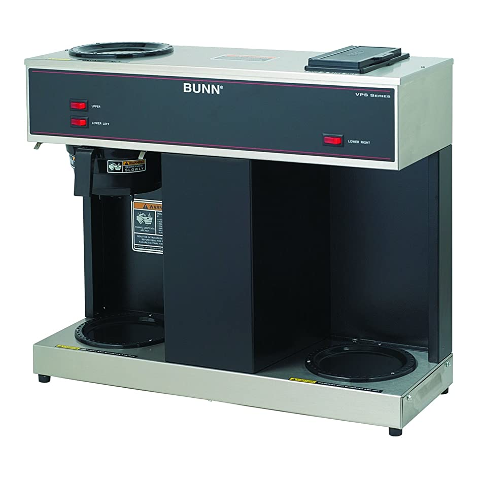 BUNN 04275.0031 VPS 12-Cup Pourover Commercial Coffee Brewer, with 3 Warmers (120V/60/1PH)