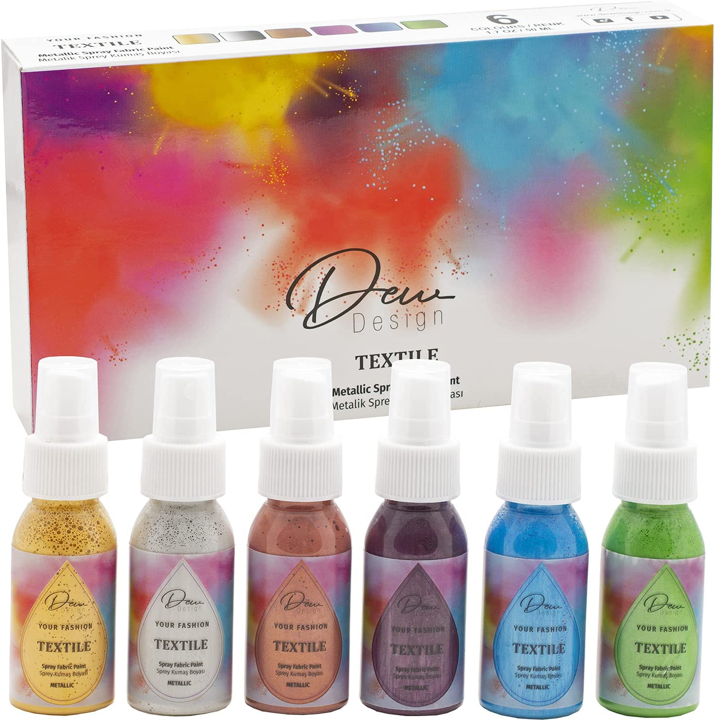 Metallic Spray free Paints for Clothes Make Fashio Your Tie Own Dye Direct store