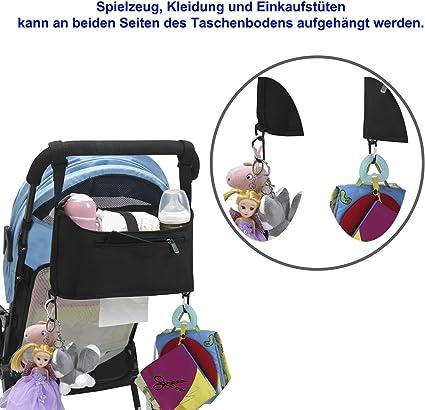 Denior/® Kinderwagen Haken,1er Packung Denior Kinderwagenhaken Taschenhaken,f/ür Wickeltaschen Milch Pulver Spender,Organizer, Anh/änger f/ür Kinderwagen Taschenhaken f/ür Kinderwagen