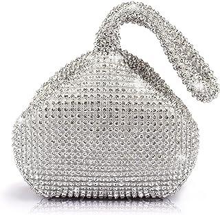 J&G dreieckige Rhinestone Strass Damen Unterarmtasche Abendhandtasche Party Tasche Hochzeit Handtasche