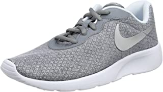 818384 Big Kids Tanjun (GS) Running Sneakers All Colors (4 M US Big Kid, Cool Grey/Metallic Silver-blue Tint)