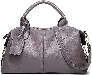 TEBIEAI Damen Umhängetaschen Frau Handtaschen Lack PU-Leder Elegant Tote Schultertaschen TEDE84075