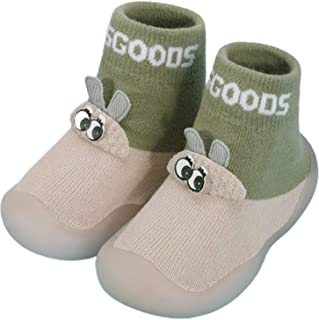 Unknow, Calcetines lindos para bebé, bebé bebé de punto antideslizante zapatillas calcetines de dibujos animados conejo de goma inferior zapatos