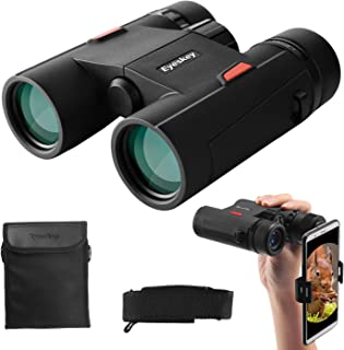 Eyeskey Wayfarer 8x32 Compact Binoculars for Adults and Kids with Phone Adapter, Specially Designed for Travel, Great Gift