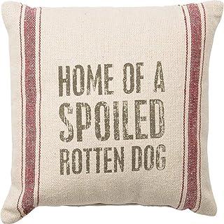 jonycm 45x45cm Vintage Vintage Harina Saco Estilo Spoiled Rotten Dog Throw Pillow Case Funda de cojín Decorativo para sofá Home Office Decorativo