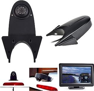 Dachkante Einparkhilfe Rückfahrkamera integriert in 3. Bremsleuchte Transporter Kamera für MB W906 Sprinter +VW Crafter Transit Ducato+ 4,3' Zoll DVD Monitor TFT Bildschirm LKW KFZ LCD Display