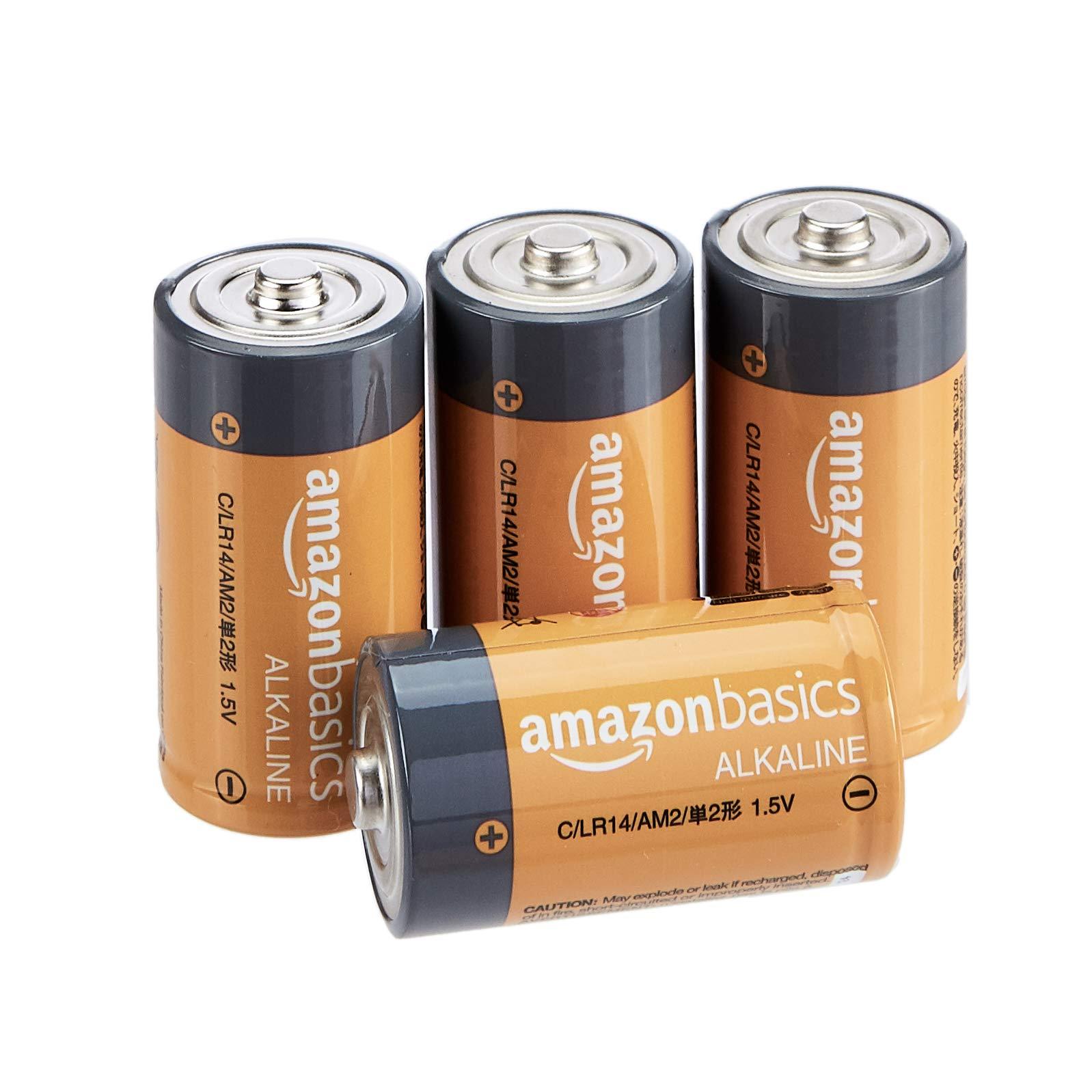AmazonBasics Everyday Alkaline Batteries 4 Pack