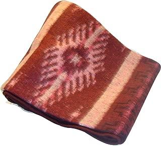 Sanyork Fair Trade Brushed Alpaca Blend Recycled Wool Blanket Reversible Throw 78