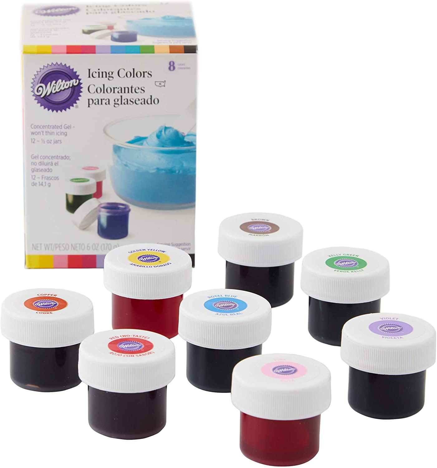 Wilton Icing Colors unisex Indefinitely 8-Count May Packaging vary
