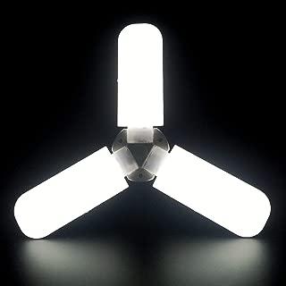 Led Garage Lights, Super Bright 45W Daylight Light Bulbs 4000LM Deformable Garage Ceiling LED Shop Lights for Garage, Working Light for Workbench, Warehouse, Workplace, Basement (Daylight)