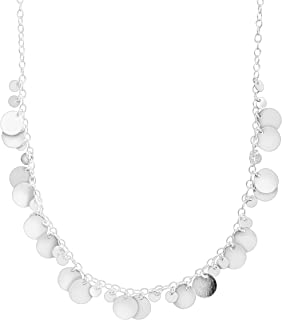Saguaro' Beaded Disc Necklace in Sterling Silver