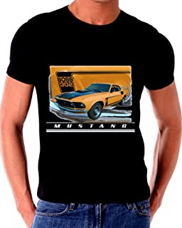 Ford Mustang Boss 302 Old Tin Sign T shirt