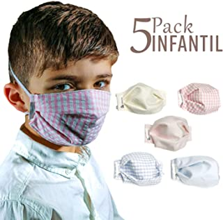 tapidecor Pack 5 Mascarillas Infantiles Lavables