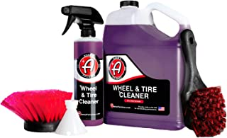 Adam's Wheel & Tire Cleaner - A Chemical Formula That Combines Our Wheel Cleaner & Tire & Rubber Into An All In One Formula - Works On Alloy Chrome Aluminum Clear-Coated Painted Rims (Collection)