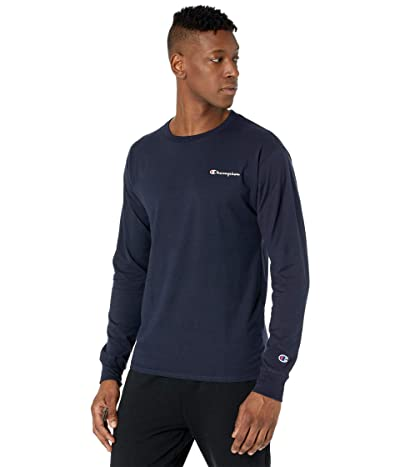Champion Classic Graphic Long Sleeve T-Shirt (Navy) Men
