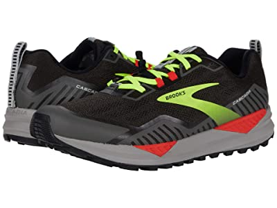 Brooks Cascadia 15 (Black/Raven/Cherry Tomato) Men
