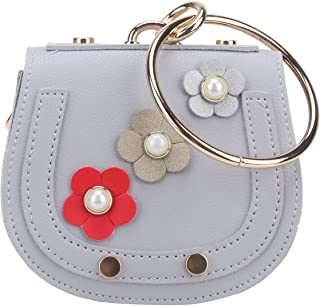 Fawziya Flower Bags For Kids Clutch Purse With Handle Coin Wallet With Key Ring