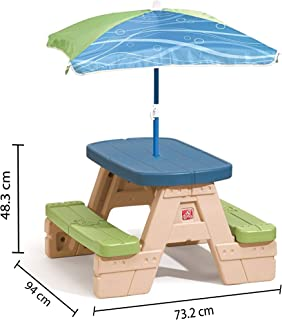STEP2 SIT & PLAY PICNIC TABLE WITH UMBRELLA 841899 Picnic table