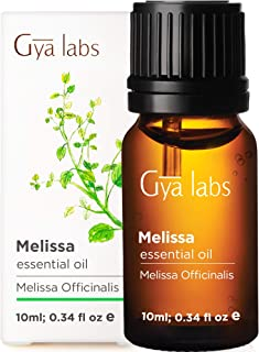 Gya Labs Melissa Essential Oil - for Healthier Skin, Restful Sleep & Stress Free Days (10ml) - 100% Pure Natural Therapeut...