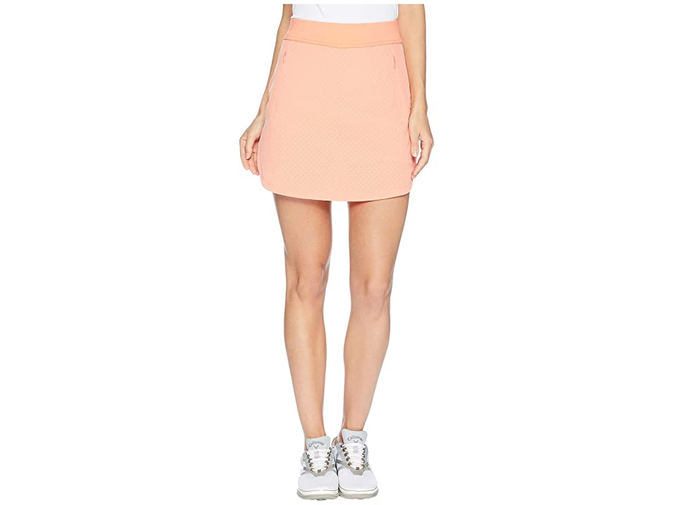 Callaway 17 Fast Track Perforated Skort (Fusion Coral) Women