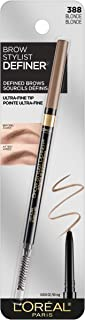 L'Oréal Paris Makeup Brow Stylist Definer Waterproof Eyebrow Pencil, Ultra-Fine Mechanical Pencil, Draws Tiny Brow Hairs & Fills in Sparse Areas & Gaps, Blonde, 0.003 oz.