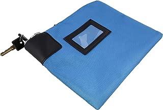 BISupply   Locking Money Bag Locking Pouch Zipper Bank Bag with Lock Locking Cash Bag Lock Pouch Lock Bag in Bright Blue