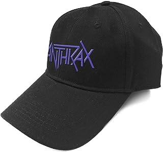 Anthrax ベースボールキャップ Band Logo Amongst The Living 新しい 公式 ブラック Strapback