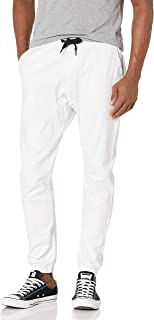 WT02 Jogger Basic Solid Colors Pants Men's Stretch Twill Fabric