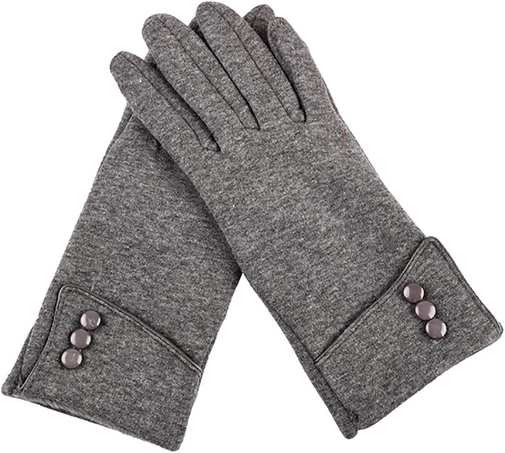 GREFER Womens Winter Warm Gloves, Touchscreen Texting Fleece Soft Lined Windproof Driving Gloves Hand Warmer