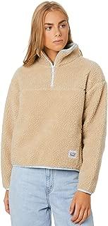 Levi's Women's Sloane Sherpa Pullover Long Sleeve Pu Grey