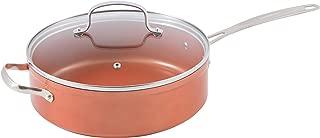 NuWave Copper 4 Quart Duralon Ceramic Everyday Pan with Lid