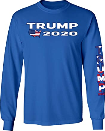 f4a0df99674 SHORE TRENDZ Unisex Trump USA Flag Long Sleeve Shirt