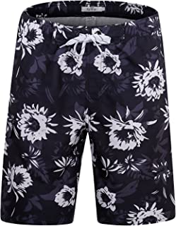 b85758b06a ELETOP Men's Swim Trunks Quick Dry Board Shorts Beach Holiday Swimwear Print  Bathing Suits