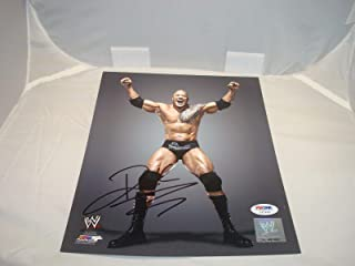 The Rock Signed 8x10 Photo WWE WWF Autographed COA 1B - PSA/DNA Certified - Autographed Wrestling Photos