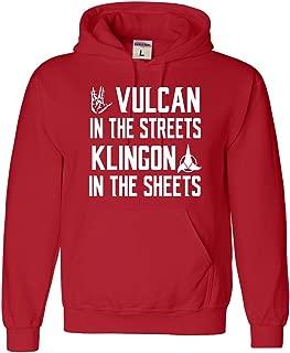 XX-Large Red Adult Vulcan In The Streets Klingon In The Sheets Sweatshirt Hoodie