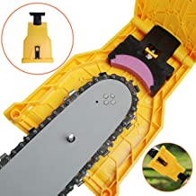 """Ineedtech Chainsaw Teeth Sharpener, Universal Bar-Mounted Chain Saw Blade Sharpener Fast Self-Sharpening Stone Grinder Tools Fit for 14"""" 16"""" 18"""" 20"""" Chain Saw Bar with 2 Holes"""