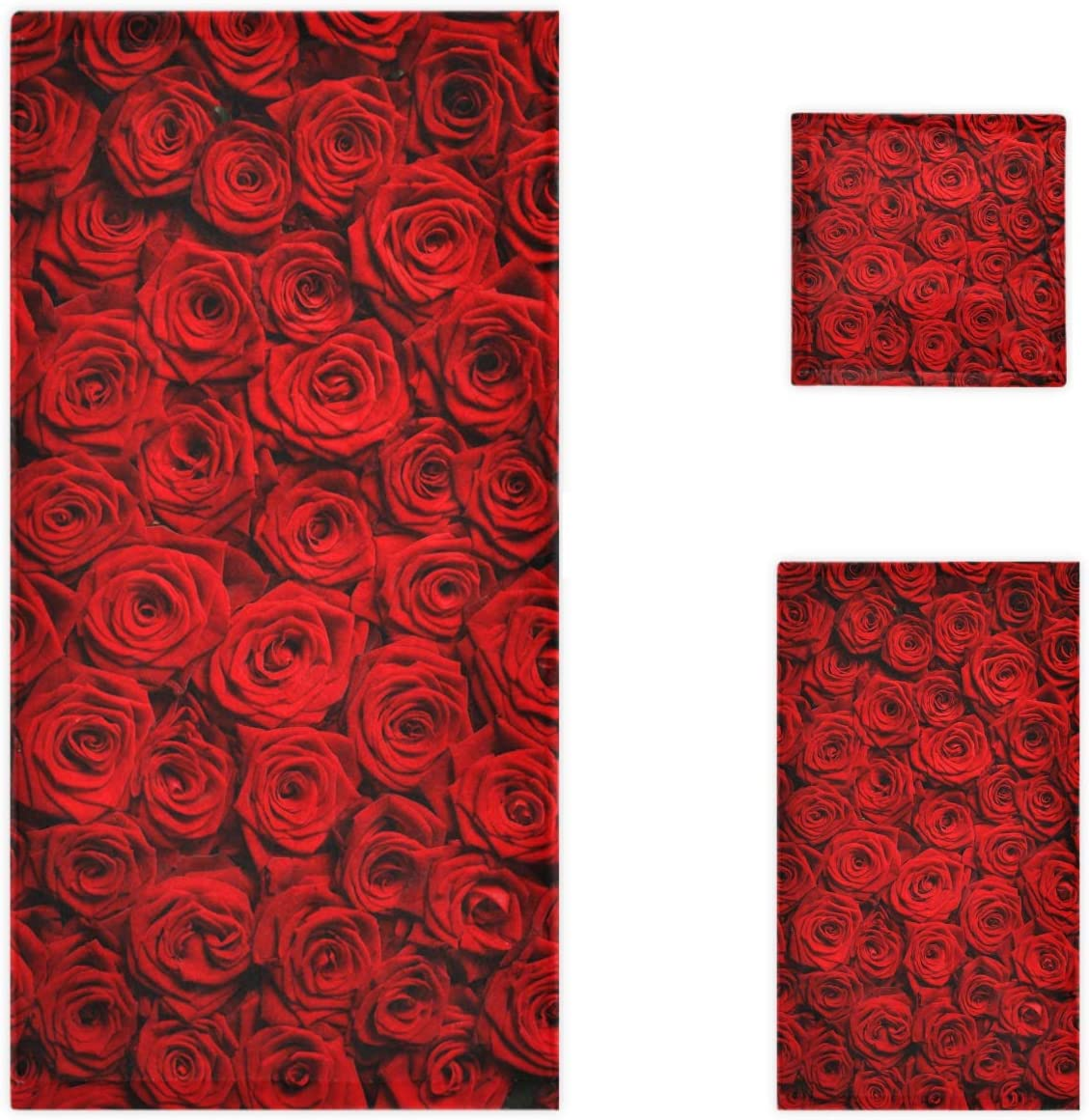 Naanle 3D Beautiful Natural Industry No. 1 Red Decorati Luxury Soft Ranking TOP8 Print Roses