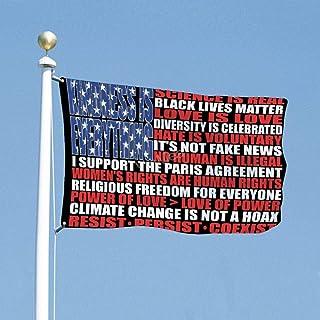 VinMea Flag Political Election 3x5 Feet Science is Real Black Lives Matter American Flag Home Wall Yard Decor Art Flags