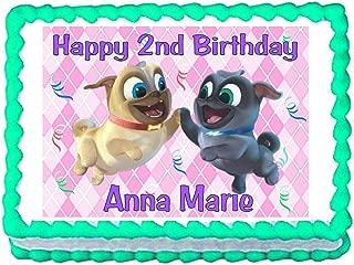 Puppy Dog Pals Pink Edible Cake Image Cake Topper
