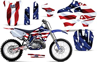 AMR Racing Stars & Stripes-AMRRACING MX Graphics Decal kit fits Yamaha YZ 125/250 (1996-2001)-Red-White-Blue