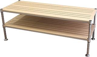 ルミナス ポール径25mm ラック 木製棚 ウッドシェルフ テレビ台 TV台 幅120 ナチュラル NTYPEE12NA