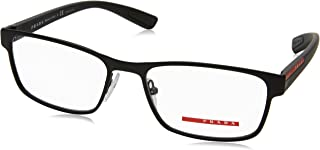 Linea Rossa Men's PS 50GV Eyeglasses Black Rubber 53mm