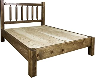 Montana Woodworks Homestead Collection Queen Platform Bed, Stain & Clear Lacquer Finish
