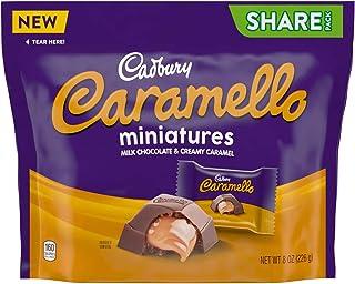 Cadbury Caramello Miniatures Milk Chocolate Caramel Candy Bag, 8 Oz