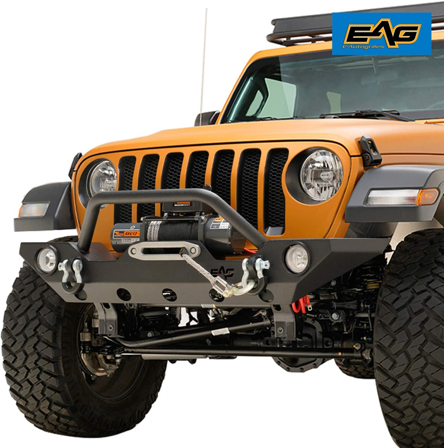EAG Front 40%OFFの激安セール Bumper Rock Crawler with Winch and P Housing マーケット Fog Light