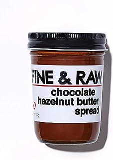 Fine & Raw Hazelnut Butter Spread 8 Ounce – Clean Ingredients, Vegan, and Organic (Chocolate Hazelnut)