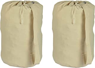 "Accent Home 100% Cotton Laundry Bag 28x15"" Beige AH_LNDRYBG_PLN_ST02"